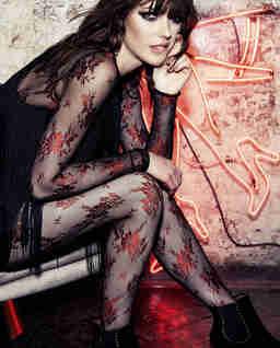Rajstopy Lea Black/Red