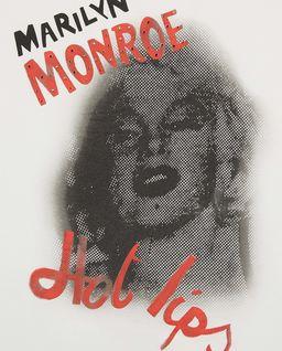 Biały t-shirt z Marylin Monroe