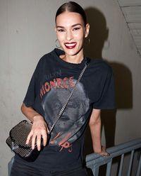 Czarny t-shirt z Marylin Monroe