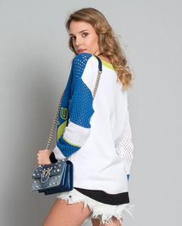 Ażurowy sweter  z logowaniem