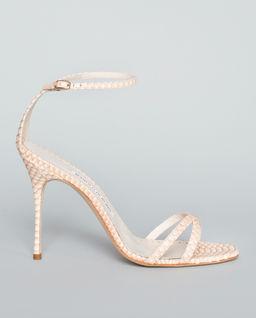 Sandały Paloma ze skóry węża