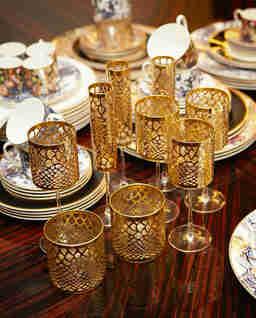 Zestaw dwóch kryształowych kieliszków Marrakech