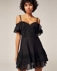 Sukienka koronkowa z odkrytymi ramionami Halet