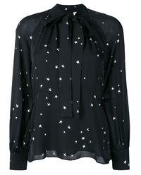Koszula z jedwabiu w gwiazdy