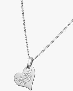 Srebrny naszyjnik w kształcie serca