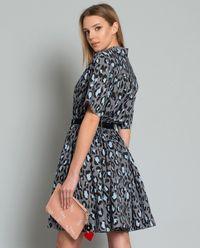 Košilové šaty s levhartím vzorem