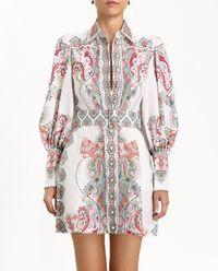 Sukienka mini z lnu