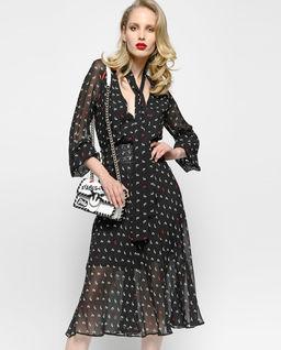 Sukienka z nadrukiem Illustre