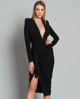 Czarna sukienka asymetryczna