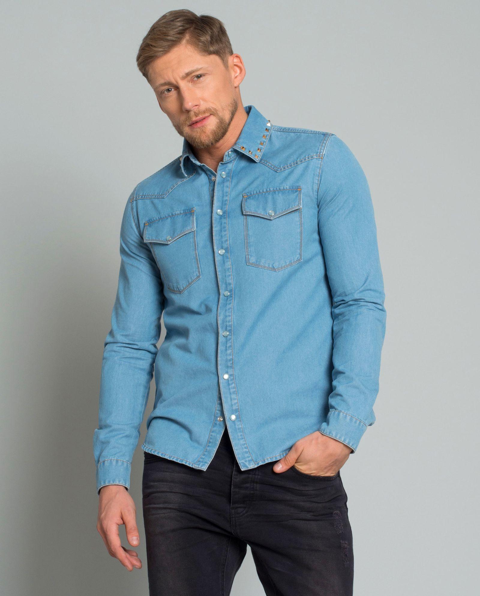 42ed29e8045f9f Koszula jeansowa VALENTINO – Kup Teraz! Najlepsze ceny i opinie! Sklep  Moliera2.com