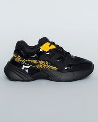 Sneakersy skórzane z koralikami Acquamarina