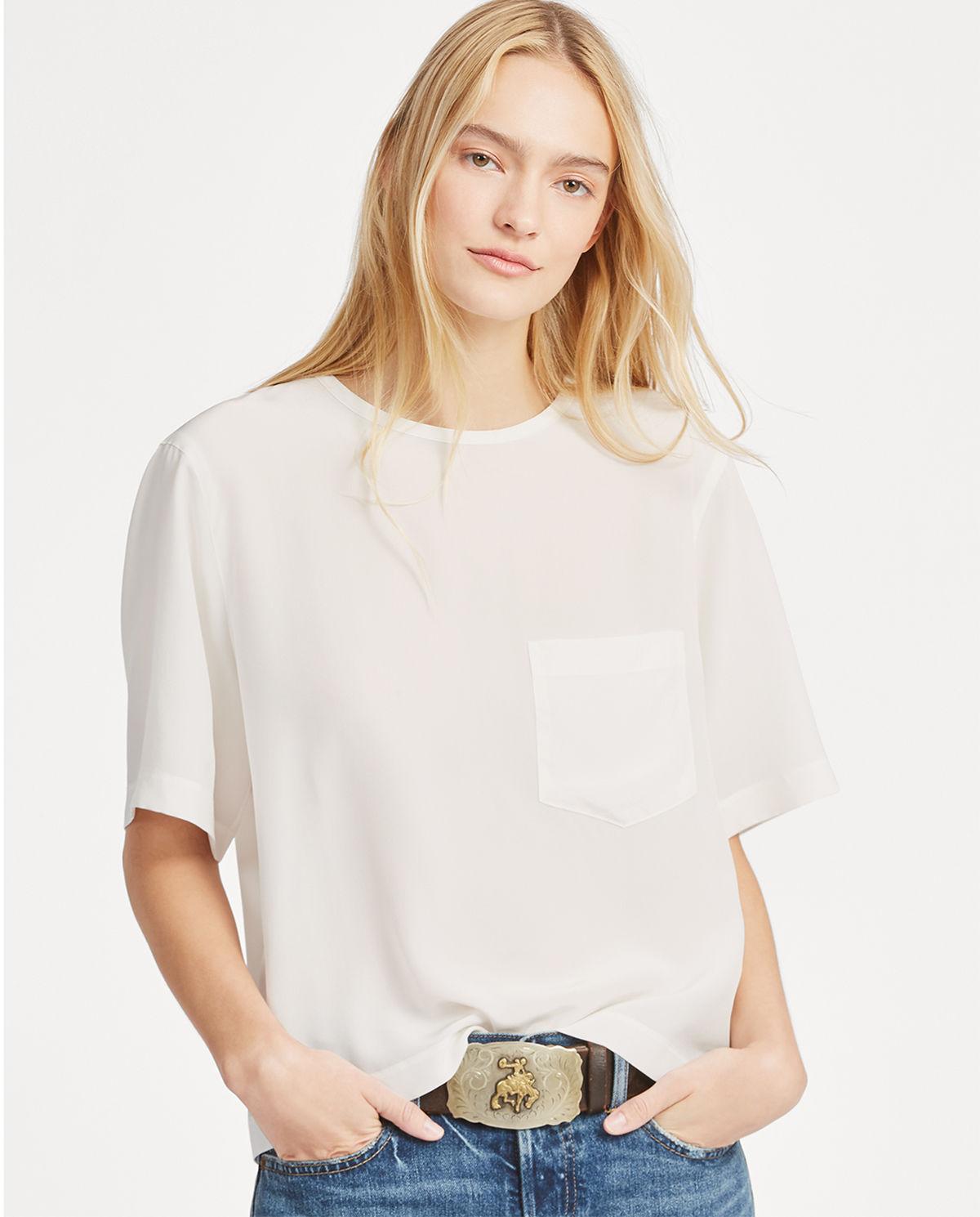 46d77b0c Koszulka z jedwabiu RALPH LAUREN – Kup Teraz! Najlepsze ceny i ...