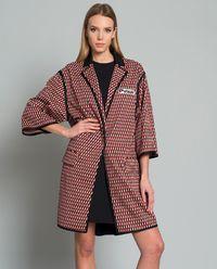 Płaszcz w geometryczny wzór Mitico