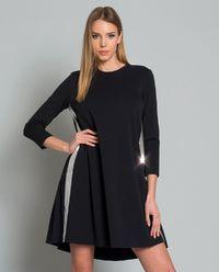 Sukienka z metalicznymi lampasami