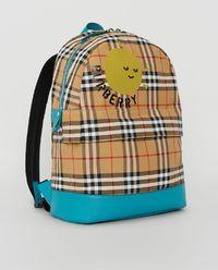 Plecak w kratę z logo