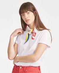 Tričko s hedvábným šátkem