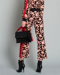 Spodnie w kwiaty z lampasami