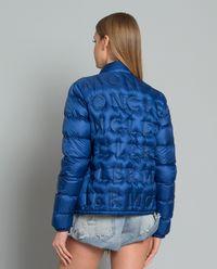 Kurtka z tłoczonym logo niebieska