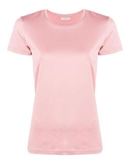 T-shirt różowy z logo