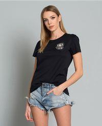 T-shirt z kryształami Svarowskiego