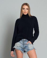 Sweter z kaszmiru granatowy