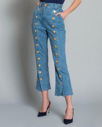 Jeansy z guzikami