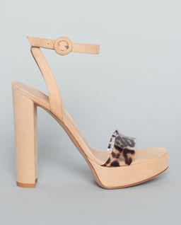 Sandały na platformie z panterką