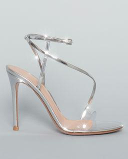 Sandały na szpilce Plexi