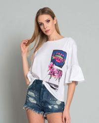 T-shirt z falbankami