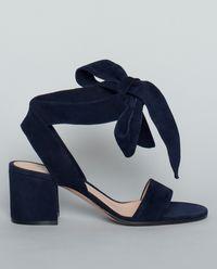 Semišové sandály s vázáním