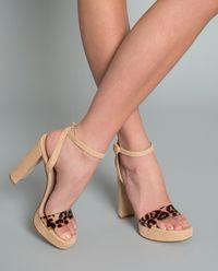 Sandály na platformě s levhartím vzorem
