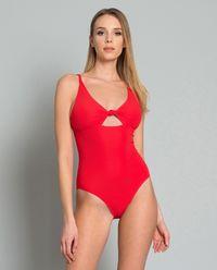 Červené jednodílné plavky