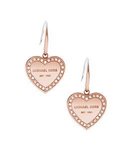 Kolczyki serca z kryształami Swarovskiego