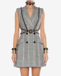 Vlněné kostkované šaty