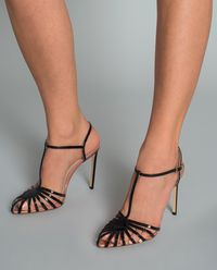 Sandały na szpilce Cage