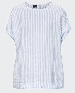T-shirt lniany w paski