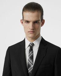 Krawat jedwabny w kratę