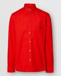 Koszula Slim Fit czerwona
