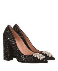 Buty z kryształami i brokatem