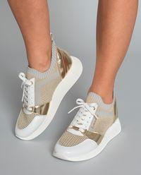 Sneakersy skórzane ze skarpetą