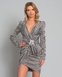 Sukienka z jedwabiu z kryształami Swarovskiego