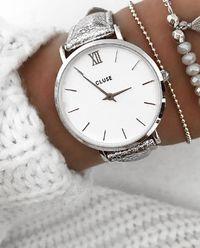 Zegarek Minuit Silver Metallic
