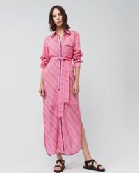 Sukienka koszulowa maxi