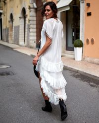 Sukienka Jedwabna Florence Ivory