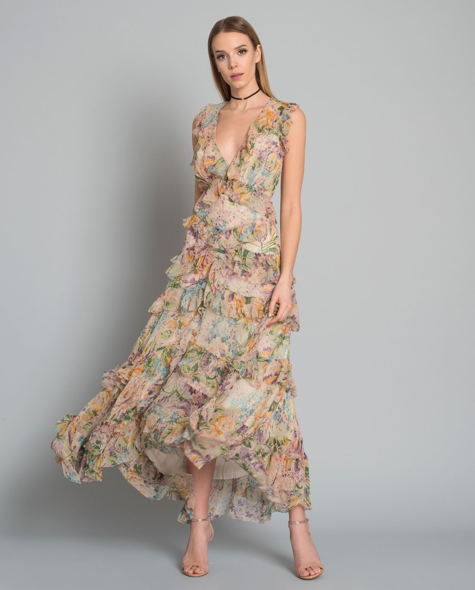 f7bf1a50 Sukienka maxi z jedwabiu ZIMMERMANN – Kup Teraz! Najlepsze ceny i ...