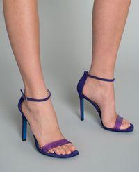 Sandały na obcasie  z zamszowej skóry