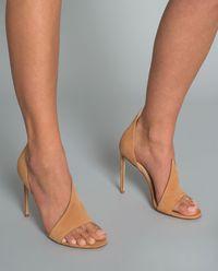 Sandały na szpilce zamszowe