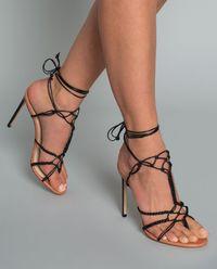 Sandały na szpilce Braided