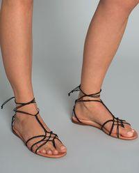 Sandały skórzane Braided