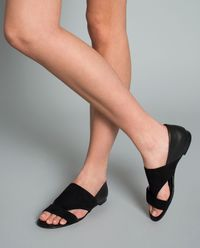Sandały z łączonej skóry